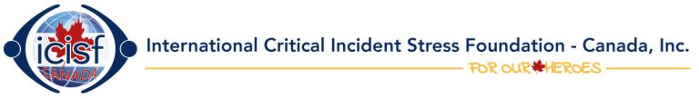 """International Critical Incident Foundation Canada logo with tagline, """"For Our Heroes"""""""