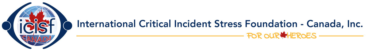 "International Critical Incident Foundation Canada logo with tagline, ""For Our Heroes"""